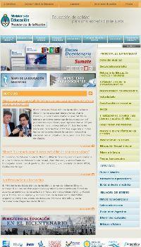 Nueva p gina web del ministerio de educaci n blog nexos for Pagina web ministerio interior